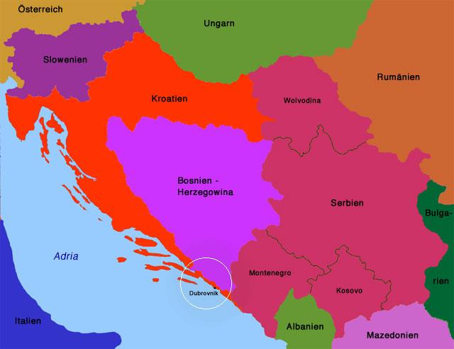 Jugoslawien Karte Früher.Nach Kroatien